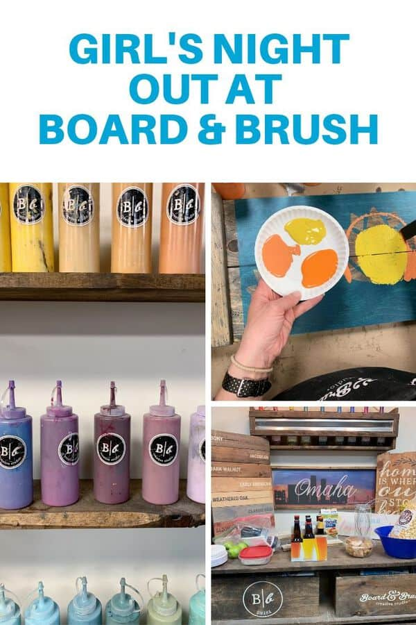 Board & Brush workshops are a great girl's night out! Here are tips for getting the most of your night out with friends, including what to bring, what to expect and how long a typical workshop takes. #sponsored #Omaha #boardandbrush
