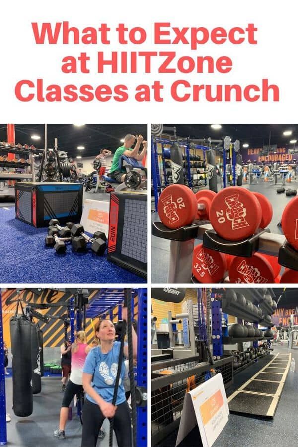 Guide to HIITZone classes at Crunch - What you can expect in your first Advanced HIIT Class in The HIITZone at Crunch. Get details on the equipment and exercises, plus what the trainer is like. #sponsored #guide #fitness #crunchfitness