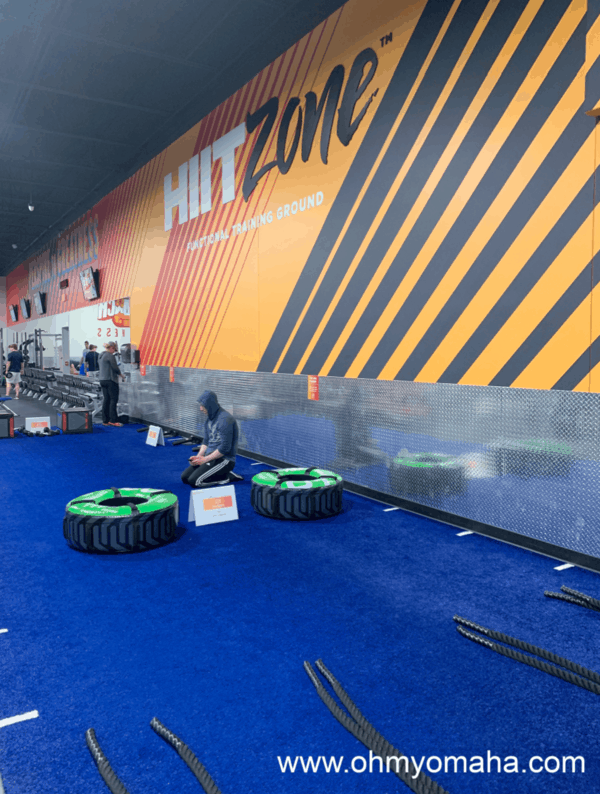 First-timer's guide to The HIITZone at Crunch - What to expect if you take a class in The HIITZone. There's a turf area in The HIITZone.
