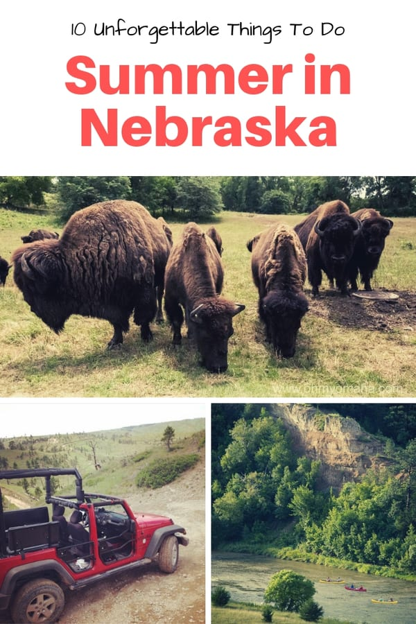 Planning a trip to Nebraska this summer? Here are 10 unforgettable things to do in Nebraska, including Omaha, North Platte, Niobrara and more | Summer fun in Nebraska | Things to do outdoors in Nebraska | Kid-friendly things to do in Nebraska #familytravel #USA