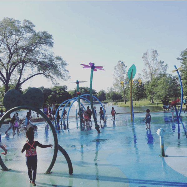 One of the most popular spray grounds in Omaha is in Benson Park, which also has a great playground for kids ages 12 and younger.
