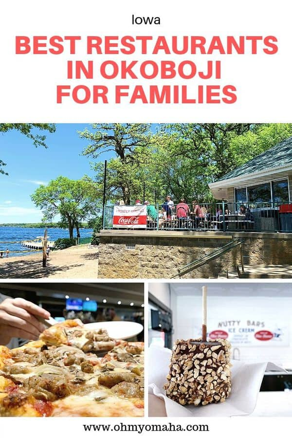 Headed to Okoboji for a family vacation? Here are some of the best restaurants in Okoboji for families to visit while you're there! Get tips on where to go in Okoboji for breakfast, lunch, dinner and ice cream treats. #Iowa #Okoboji #Guide #FamilyTravel