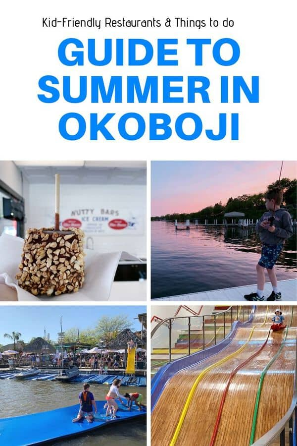 Planning a trip to Okoboji in the Iowa Great Lakes region? Use this guide to get ideas on kid-friendly things to do there, both on the lake and indoors. Plus, read up on recommended Okoboji restaurants for families. #Iowa #VacationOkoboji #familytravel