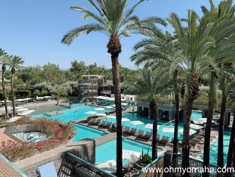 Scottsdale hotels for families - The Hyatt Regency Scottsdale Resort & Spa at Gainey Ranch has a water playground with a water slide, sand beach and a whole lot of pool.