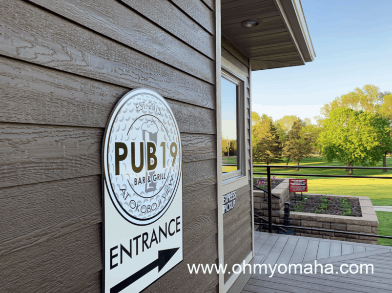 Restaurants in Okoboji - Pub 19 Bar & Grill is located on a golf course. They're pizza is great, making it a nice place to go with kids.