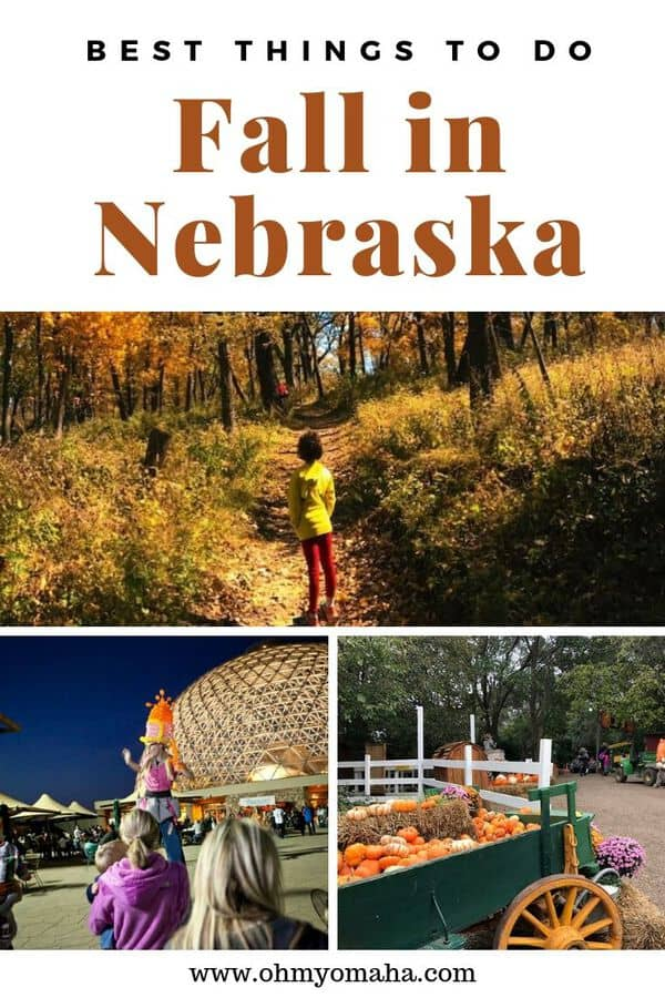 Find the best places for families to visit in Nebraska this fall. Get details on popular places to hike, apple orchards, pumpkin patches and more fun places found in Nebraska. List also includes special events around the state that celebrate harvest time and Halloween. #Nebraska #autumn #familytravel