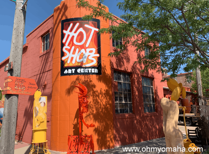 Hot Shops Art Center in NoDo Omaha features dozens of work studios and galleries of work made by local artists.