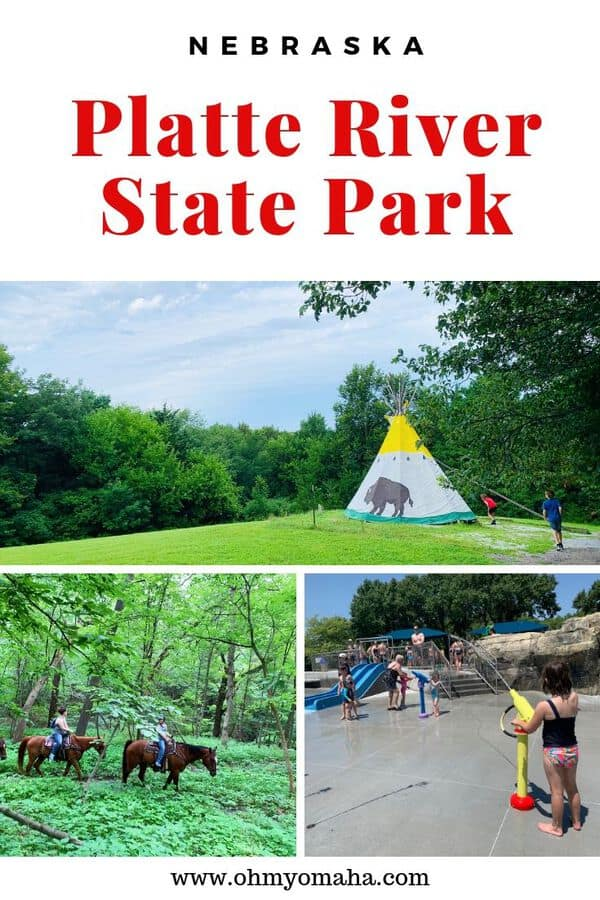 One of the closest state parks to Omaha is Platte River State Park. Here's a guide to fun things to do at the park, including horseback rides, hikes and water activities (including the only waterfall you'll find in southeastern Nebraska!). This guide is helpful for families visiting Platte River State Park with kids.  #Nebraska #outdoors