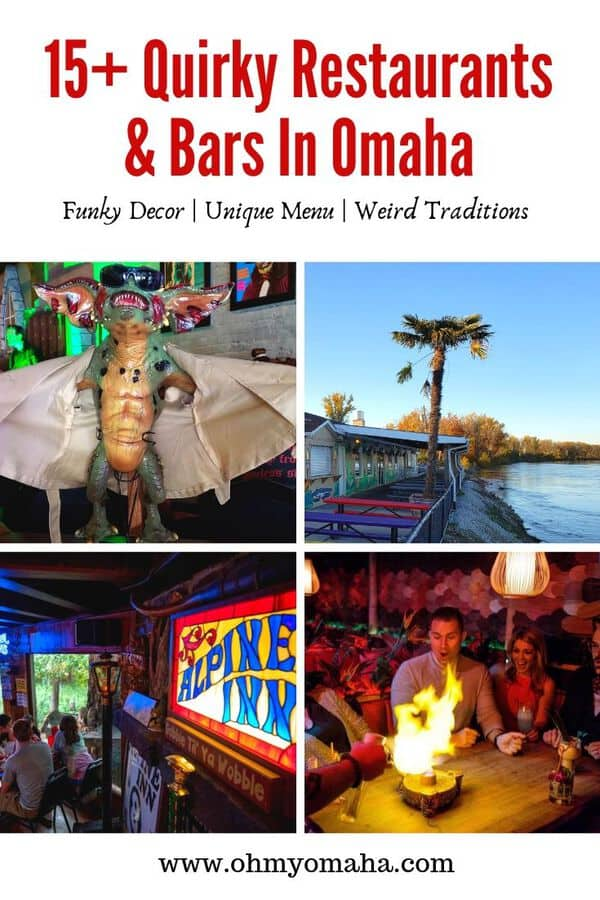 Learn about Omaha's most unique restaurants & bars - Plan a night out at one Omaha's most unique restaurants, including a monster-themed restaurant, a steakhouse that resembles a monastery, and a place where you can watch raccoons through the window while you dine.