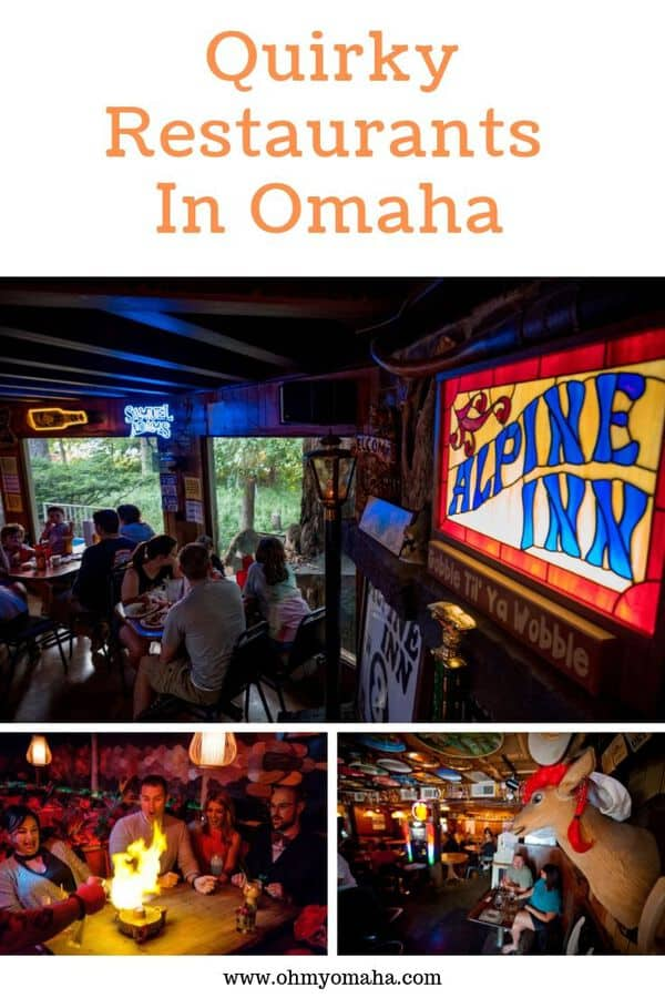 Unique and quirky restaurants in Omaha and in nearby towns - This list includes restaurants with unique atmosphere and decor, peculiar menu items, or one-of-a-kind entertainment. #dining #guide #nebraska