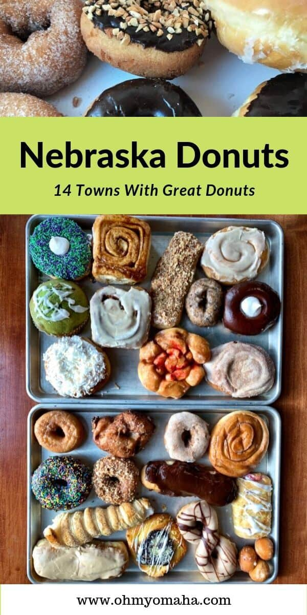 Guide to the best (and locally-owned) donut shops in Nebraska! This post includes the Nebraska Donut Trail, with stops throughout the state, including the Panhandle and cities like Omaha and Nebraska. #doughnut #guide #Nebraska #USA