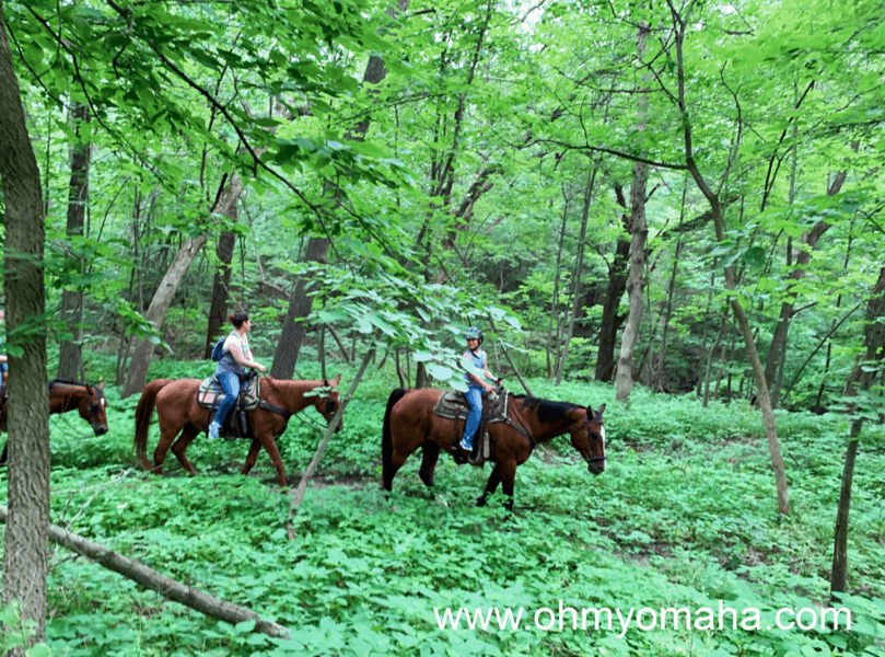 Outdoor Nebraska activities - Horseback riding is popular at state parks including Platte River State Park in Louisville.