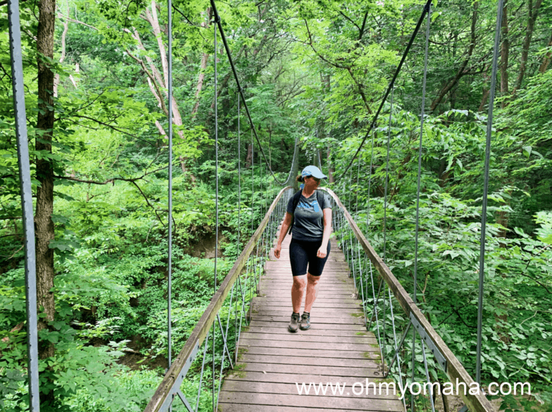 Find a suspension bridge in Nebraska - There's one at Schramm State Recreation Area in Gretna
