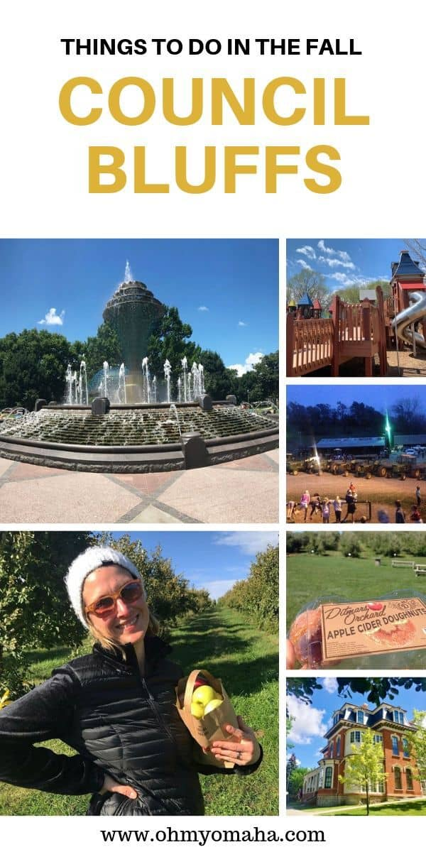 Fall in Iowa - Plan a visit to Council Bluffs, Iowa for fun fall experiences like apple picking, hayrack rides, bonfires, and parks. #Guide #unleashCB #CouncilBluffs #Iowa #familytravel