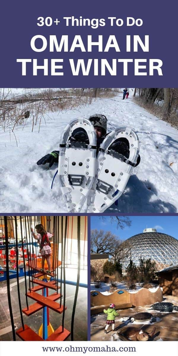 A huge list of things to do in the winter in Omaha, Nebraska - Everything from rock walls to snow shoeing, plus the best sledding hills, cheap movies and more. Use this list to find things to do with kids in Omaha (indoors and outdoors). #Nebraska #winter #guide #USA