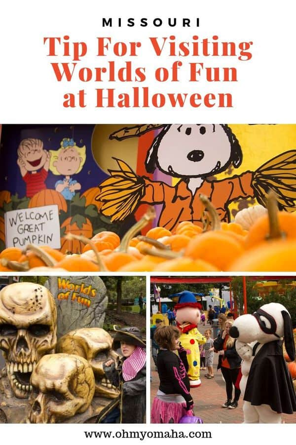 Guide to Kansas City's Worlds of Fun at Halloween - Know when to visit if you have young kids and when to go if you want to be scared. This post has the 2019 hours and prices for the Great Pumpkin Fest and Halloween Haunt! #KC #KansasCity #Missouri #USA #Halloween