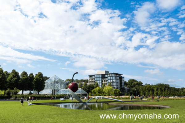 "Minneapolis Sculpture Garden and its famous ""Spoonbridge & Cherry"" sculpture"