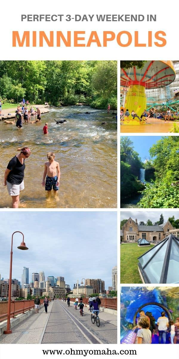 Looking for fun things to do in Minneapolis with kids? Here's the perfect 3-day itinerary for Minneapolis, especially for families! Guide includes kid-friendly restaurants (and a brewery), plus recommended museums, attractions and bike trails. #Minnesota #USA #MeetMinnapolis #FamilyTravel #Guide