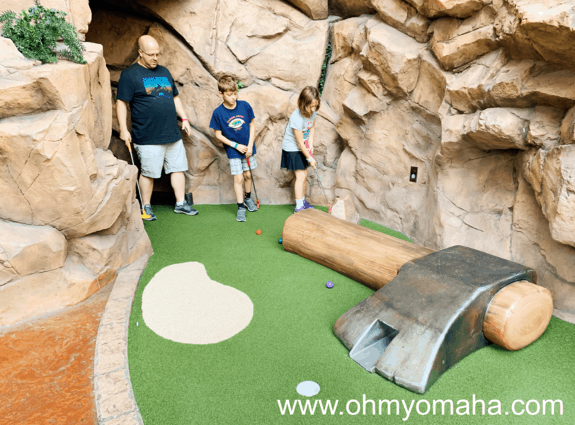 Moose Mountain Adventure Golf is an 18-hole mini golf course inside the Mall of America