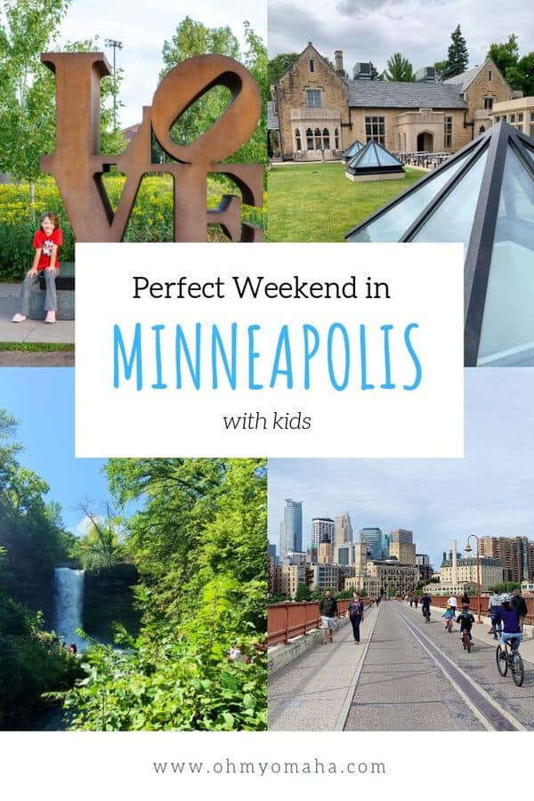 How to spend a perfect weekend in Minneapolis with kids - Here's a 3-day weekend itinerary for Minneapolis with things to do, restaurants to visit, and activities to try. This itinerary is best for summer vacations, and includes a waterfall, Mall of America, ice cream, and the iconic sculpture garden! #MeetMinneapolis #Minneapolis #Minnesota #USA #FamilyTravel