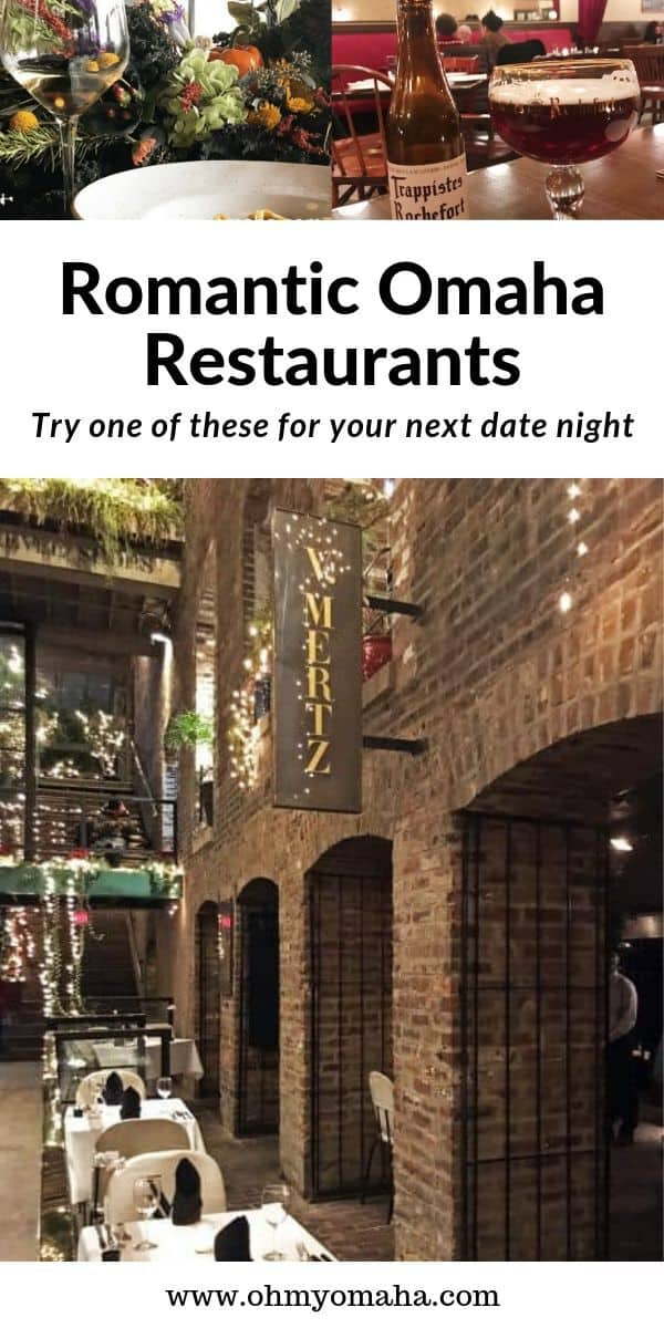 Find your next date night restaurant in on this list of romantic Omaha restaurants. List includes fine dining, chef-driven restaurants that focus on seasonal ingredients. #Omaha #Nebraska #restaurant #guide