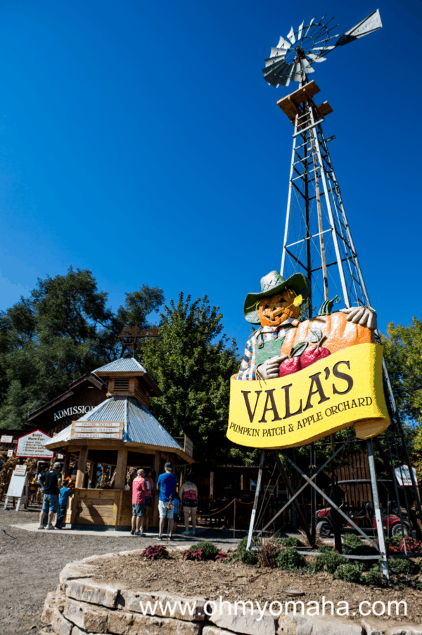Vala's Pumpkin Patch & Apple Orchard in Gretna, Nebraska is a large attraction near Omaha.