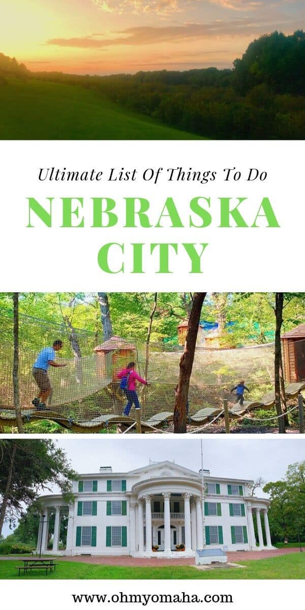 10+ things to do in Nebraska City - This guide shares the best time to visit, best thing to do and eat, and the best place to stay in Nebraska City. Guide includes what's fun for kids at Arbor Day Farm. #sponsored #ArborDayFarm #Nebraska #guide