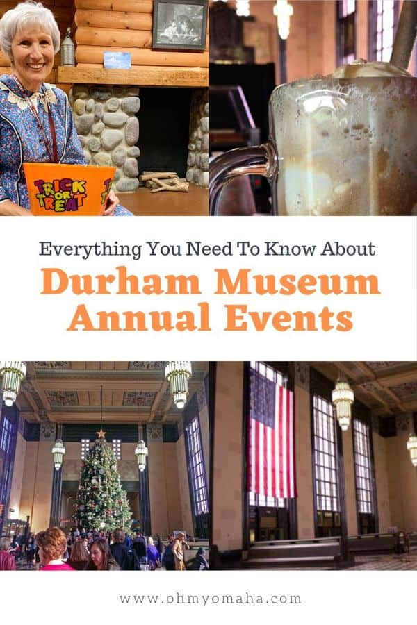 If you're planning a trip to Omaha, one museum to visit is The Durham Museum. Depending on the time of year, a visit could time out for a unique experience. Here are the don't miss annual events held at The Durham Museum. #Omaha #Nebraska #Museums #OmahaEvents