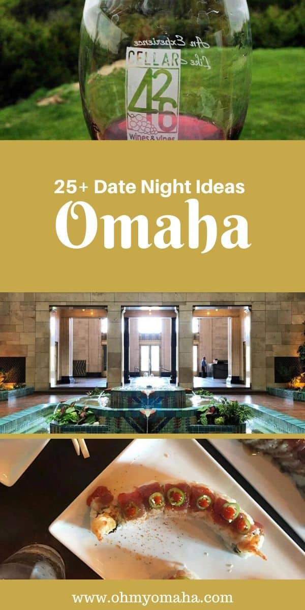 Need ideas for Omaha date nights? Here are date night ideas and suggestions for unique dates. Plus, get ideas for day trips from Omaha for couples! #Omaha #Nebraska #datenight #romantic