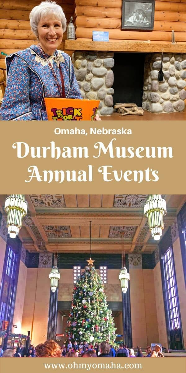The Durham Museum is in a landmark building in Omaha, Nebraska. In addition to permanent exhibits and unique traveling exhibits, the museum holds several fun events each year. Here are the must-try special events at The Durham Museum. Most of the museum events on this list are great for families! #Omaha #Nebraska #FamilyTravel #FamilyTime #Christmas