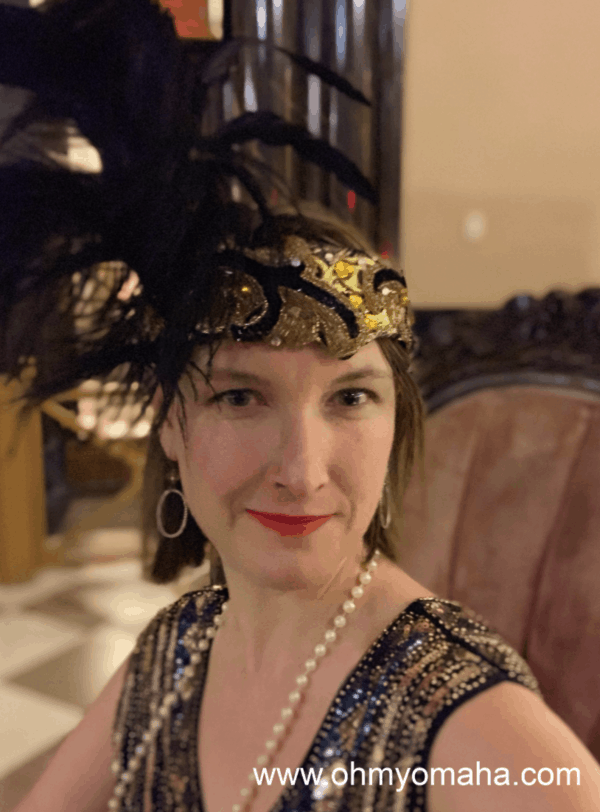 My Flappers & Fizz costume for an adults-only event at The Durham Museum in Omaha.
