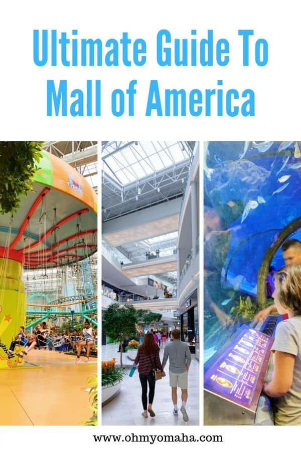 Planning a trip to the Mall of America? Here's the ultimate guide to the mall! Get tips on where to shop, where to eat, and learn about all the fun attractions found only at the Mall of America. This guide is especially helpful for families with kids. #MOA #mallofamerica #minnesota #USA #guide