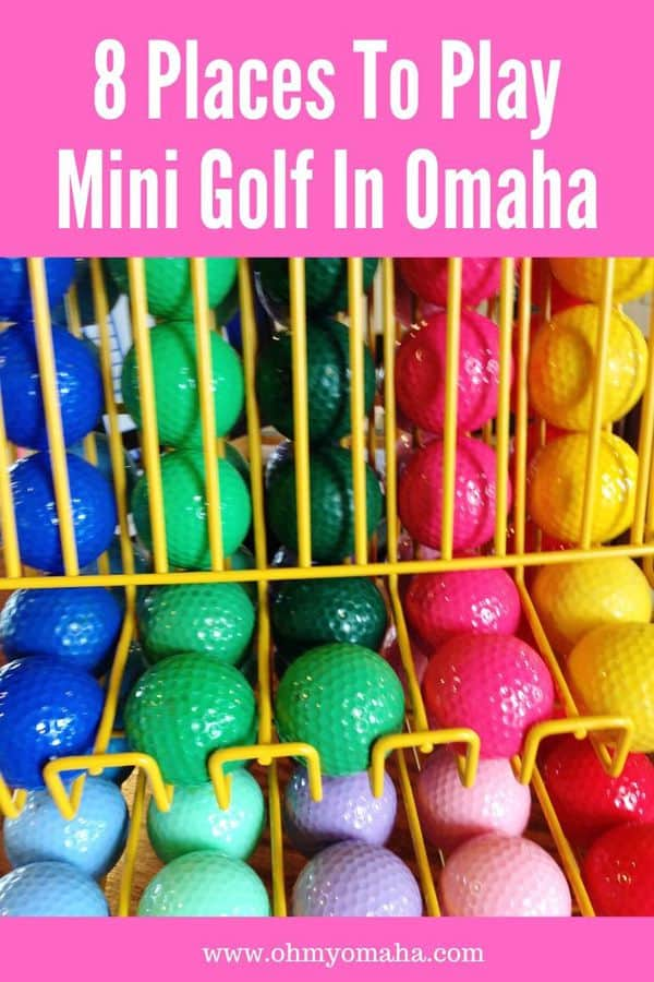 Looking for something to do with kids in Omaha? Try mini golf! Here's a list of all nearby indoor and outdoor putt putt golf courses in Omaha. Some putt putt courses have themes like dinosaurs  and pirates!  #familyfun #Omaha #Nebraska #puttputt