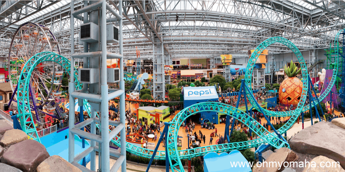 Nickelodeon Universe rides at Mall of America