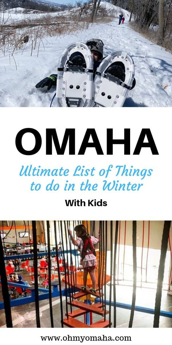 Don't be bored this winter in Omaha, Nebraskas! This is big list of indoor places to visit, fun outdoor activities, and exciting things to do in Omaha. This list is great for finding kid-friendly things to do in Omaha year-round, too! #Omaha #Nebraska #USA #Guide
