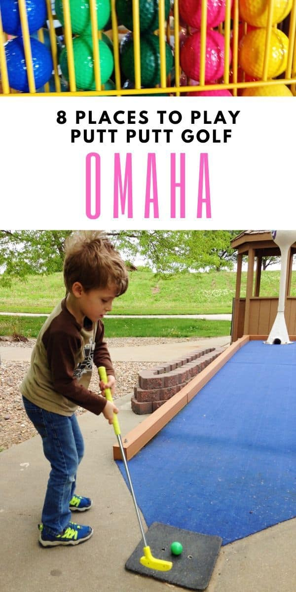 Putt putt is a fun indoor thing to do in Omaha! Find all the indoor mini golf courses in Omaha -- as well as outdoor, seasonal golfing -- in this list! #Omaha #Nebraska #familyfun #