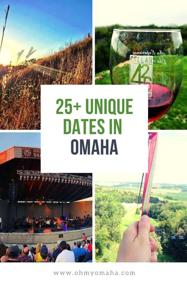 Plan something special for your next date night in Omaha! This list includes romantic restaurants, quirky date ideas, cheap date suggestions, as well as ideas for day trips from Omaha. Great list of things to do in Omaha for an anniversary, birthday, or just a quick date. #Omaha #Nebraska #Guide #Romance #Date