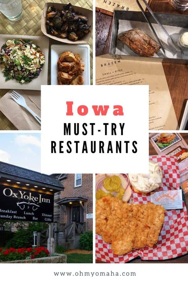 A food lover's guide to the best restaurants in Iowa. Midwest travel writers and locals share their favorite Iowa restaurants, and they offer suggestions on what to try there. #Iowa #Midwest #Restaurants #eatlocal