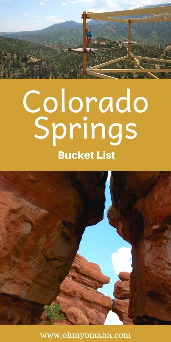 My bucket list for Colorado Springs - A collection of the ultimate things to do in Colorado Springs, including outdoor adventures, must-see vistas, and kid-friendly, unforgettable attractions. #Colorado #USA