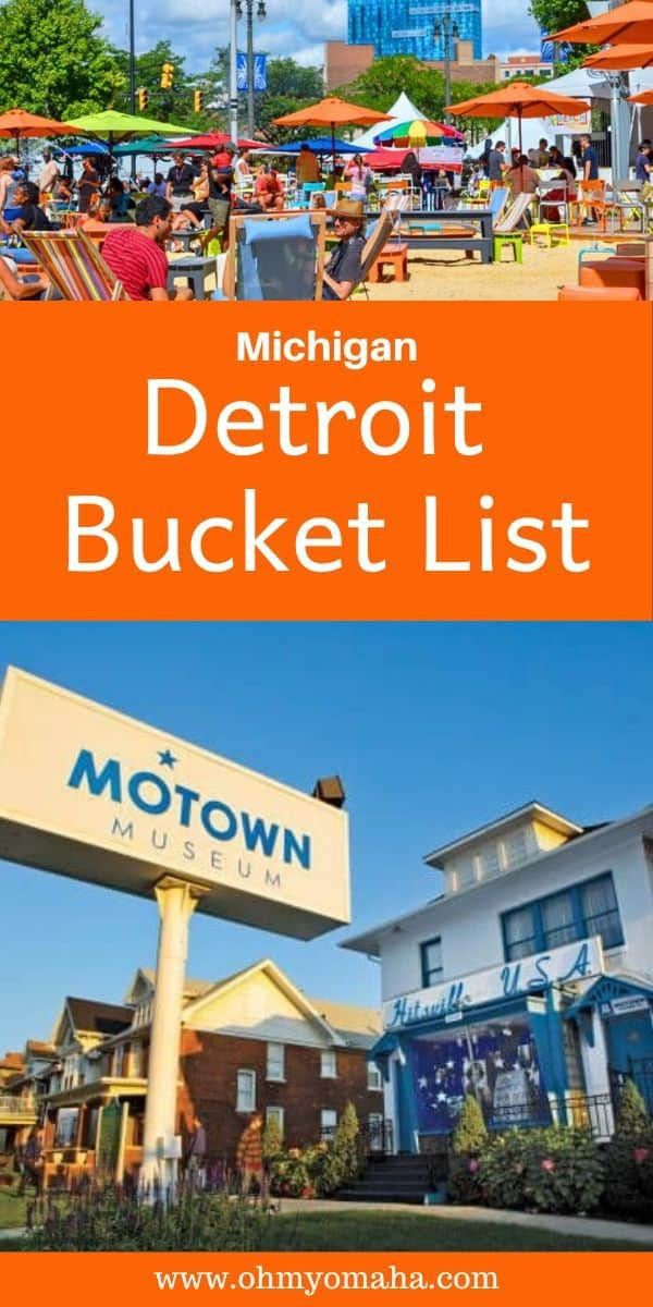 Planning a trip to Detroit? Here's a bucket list of things to do in Detroit, including top restaurants to visit, places to shop and attractions to see. This covers a ton of great must-see Detroit gems. #Detroit #Michigan #USA #bucketlist