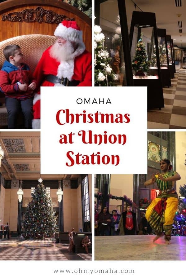 An Omaha holiday tradition: Celebrating Christmas at Union Station - Not only see the largest indoor Christmas tree in Omaha at The Durham Museum, there are weeks of holiday festivities to attend, as well. Get details on events like the tree lighting ceremony, Cultural Holiday Festival, and Noon Year's Eve. You'll want to check this museum out if you're planning a visit to downtown Omaha during the holidays! #Omaha #Nebraska #holidays #events #guide