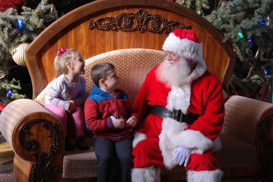 The Durham Museum has several scheduled appearances by Santa during Christmas at Union Station each year.