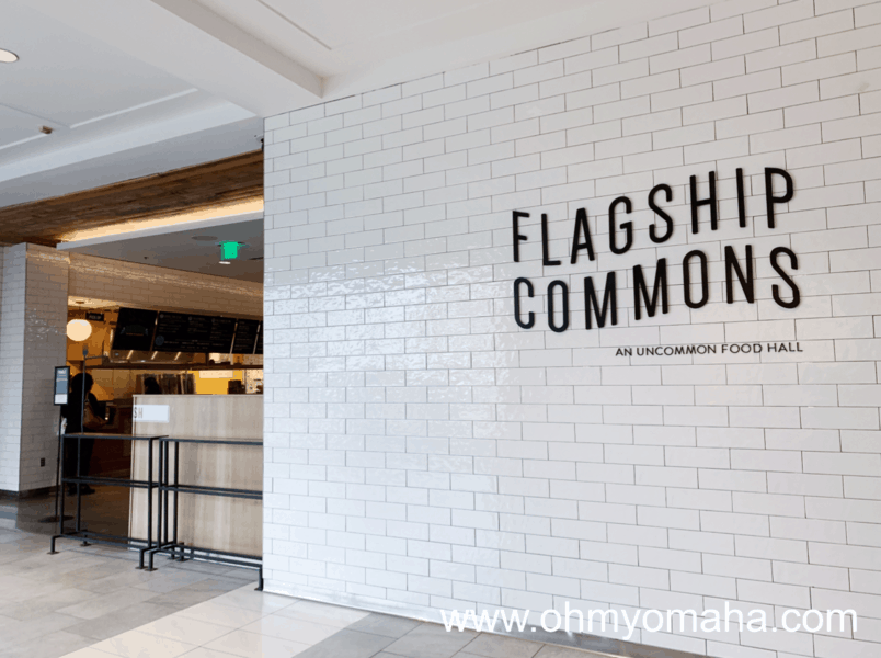 Entrance to Flagship Commons, a food hall in Omaha