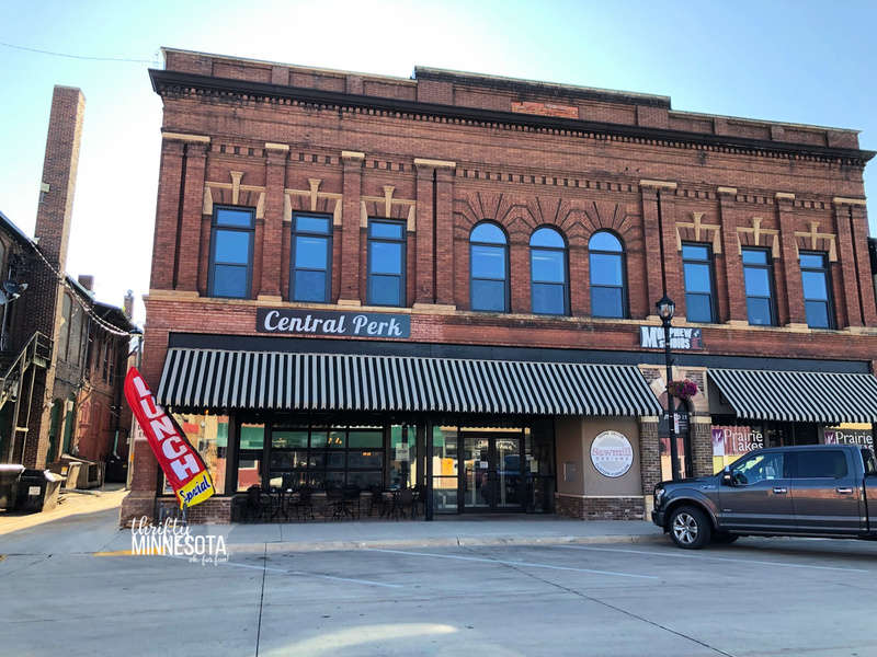 Exterior of Central Perk Coffee Shop in Estherville, Iowa