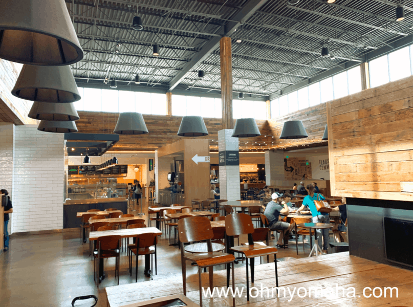 Interior of Flagship Commons, Nebraska's first food hall located at Westeroads Mall