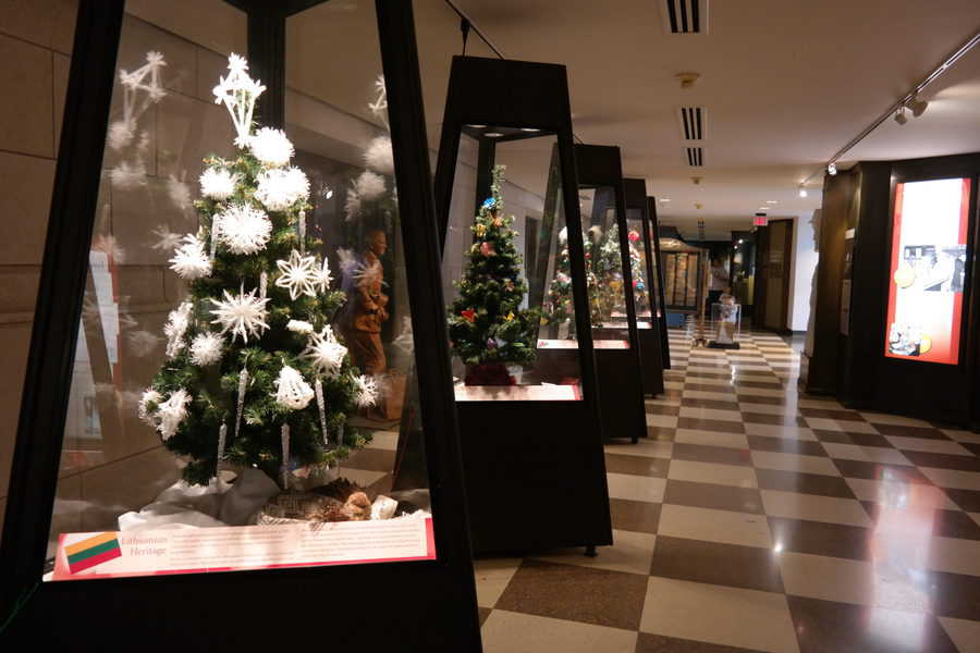 Holiday Cultural Trees display at The Durham Museum in Omaha.