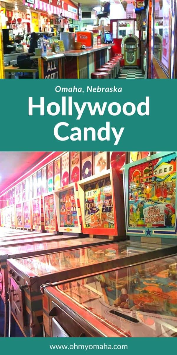 Hollywood Candy - The quirkiest store in Omaha Nebraska! Read about this unique shop that has a soda fountain, antique pinball arcade and free movie theater. #Omaha #Nebraska #USA