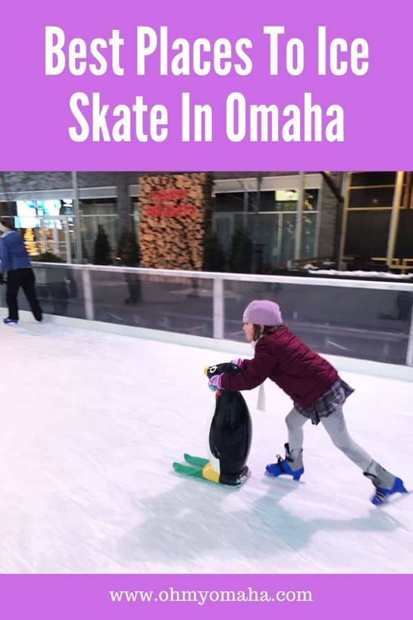 Ice skating in Omaha - Find out where all the indoor and outdoor ice rinks are in Omaha, Nebraska. Tips include how much it costs, which Omaha venues offer ice skating lessons, and where hockey teams play. #Omaha #iceskate #winter #Nebraska #Guide