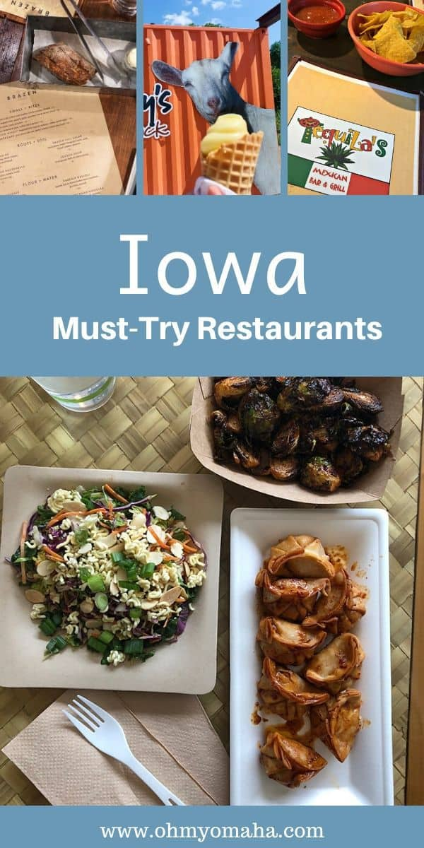 From steakhouses to snack shacks and supper clubs, this list has the best restaurants in Iowa. Restaurants are include some found in Des Moines, Iowa City, Decorah, Le Mars and many more. #Iowa #USA #restaurants #dinner