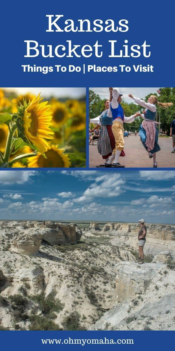 There is so much to see and things do in Kansas, I needed to make a bucket list! Here are the must-see sights, must-try food, and unique festivals in Kansas to add to your own travel wish list. #Kansas #Midwest #Travel